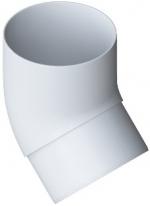 Колено трубы 45° ПВХ Белый